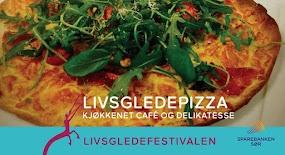 Livsgledepizza på Kjøkkenet Cafè & Delikatesse
