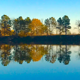 Peace by Casey Mitchell - Instagram & Mobile iPhone ( farm, colors, fish, fall, reflections, lake, pond )