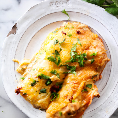 Creamy Chipotle Ranch Enchiladas