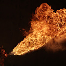 The Fire Breather by Lucky E. Santoso - People Fine Art