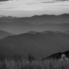 View by Tim Wallin - Novices Only Landscapes ( mountains, black and white, evening )
