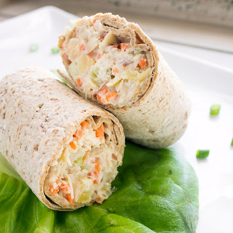 Pineapple Chicken Salad Wraps