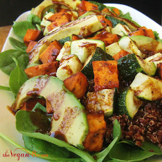 Sweet Heat Quinoa Salad With Sweet & Spicy Balsamic Reduction