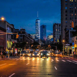 1-2-3 Red light by Joseph Baker - City,  Street & Park  Street Scenes ( crosswalk, traffic, new york, city, nightscape )