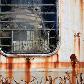 by John  Pemberton - Artistic Objects Signs ( train, rusty, rust, forgotten,  )