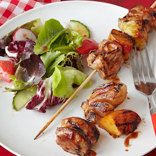 Pork & Peach Kabobs