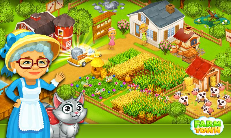 Farm Town:Happy City Day Story Screenshot 0
