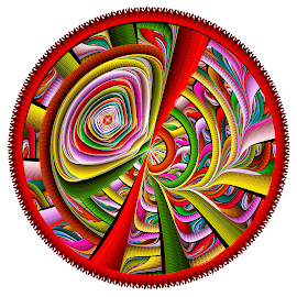 Julian Disc Wheel by Peggi Wolfe - Illustration Abstract & Patterns ( digital, gift, color, wolfepaw, jwildfire, wheel, bright, pattern, abstract, décor, julian, print, unique, fractal, illustration, disc, unusual, fun )