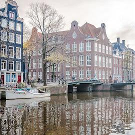 Amsterdam by Jesus Giraldo - City,  Street & Park  Neighborhoods ( water, reflection, buildings, amsterdam, city )