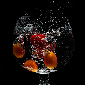 by WanUkay Perdana - Food & Drink Fruits & Vegetables ( lemon slice, tomato, sprite, glass, malaysia, strawberry )
