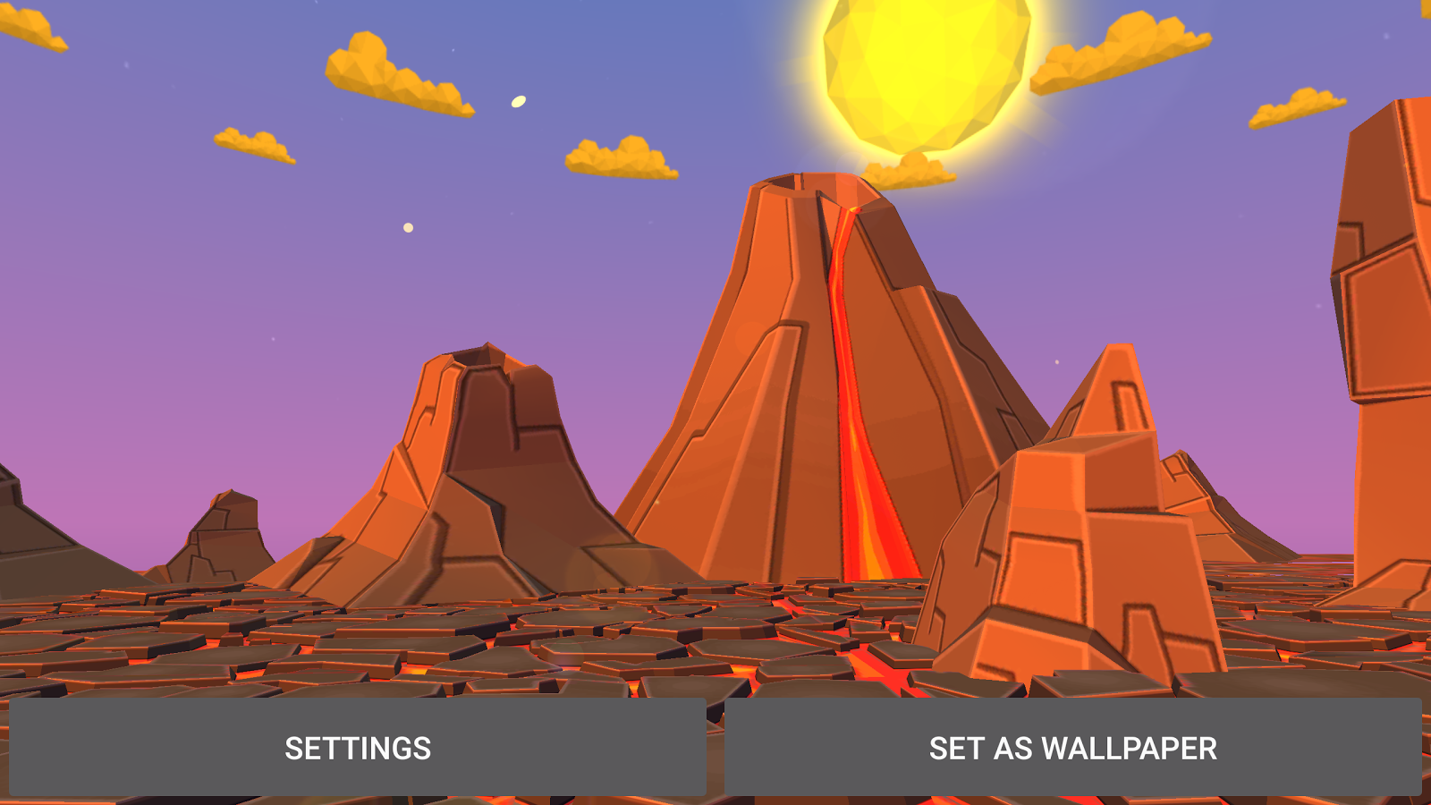 Volcano 3D Live Wallpaper Screenshot 17