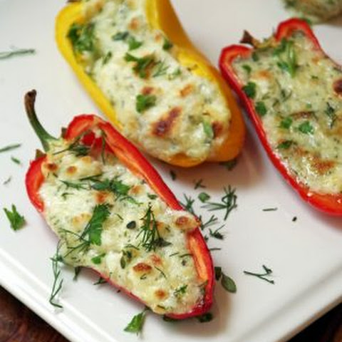 Cheddar and Herb Stuffed Mini Peppers Appetizer