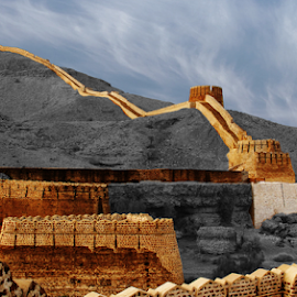 Great wall of Sidh by Fawad Hashmi - Buildings & Architecture Public & Historical