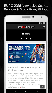 Sport Live News, LiveScore - screenshot