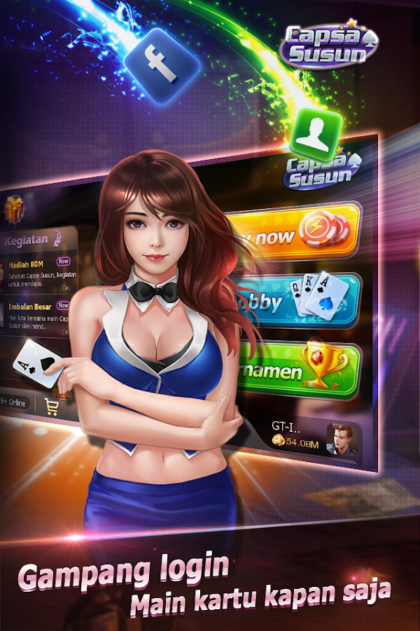Capsa Susun(Free Poker Casino) Screenshot