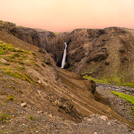 Litlanesfoss, Island by Stanley P. - Landscapes Waterscapes ( waterfall, landscapes, waterscapes )