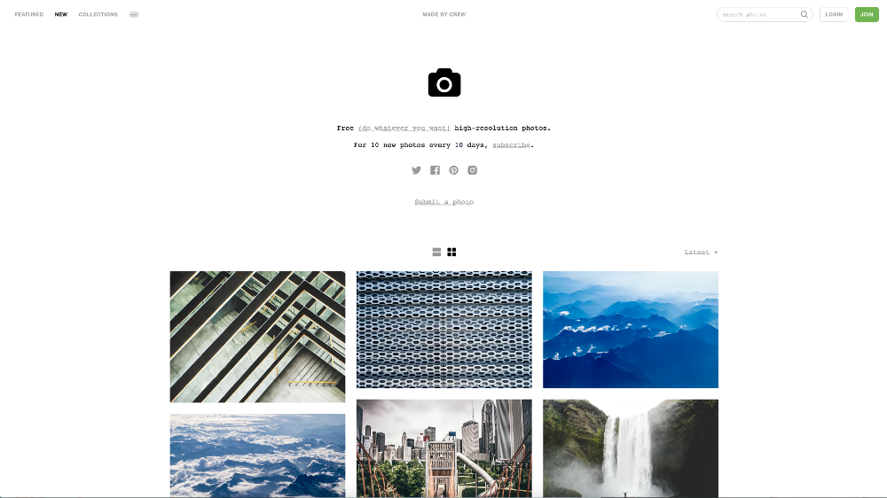 unsplash website