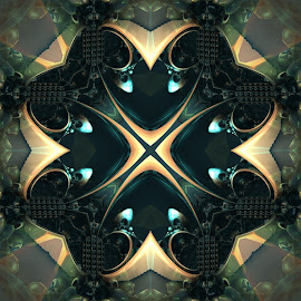 XTreme by Ricky Jarnagin - Illustration Abstract & Patterns ( kaleider, mandelbulb 3d, fractal, geometric, abstract )