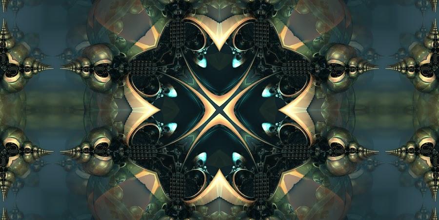 XTreme by Ricky Jarnagin - Illustration Abstract & Patterns ( kaleider, mandelbulb 3d, fractal, geometric, abstract )