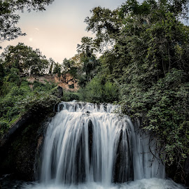 by Ewald Gruescu - Landscapes Waterscapes ( green, samyang, trees, long, nikon, edessa, greece, fisheye, exposure, waterfall, sunset, vacation, river, forrest, photography )
