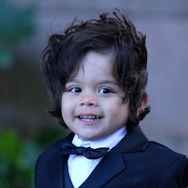 Groom to be someday by Raphael RaCcoon - Babies & Children Child Portraits ( wedding photography, tuxedo, wedding, groom, wedding party )