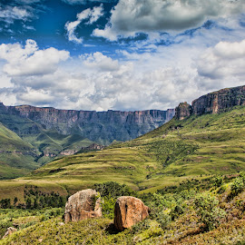 Amphitheater - Drakensberg by Morne Kotze - Landscapes Mountains & Hills (  )
