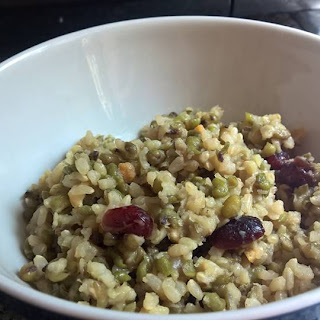 Orange Cranberry Mung Beans and Rice