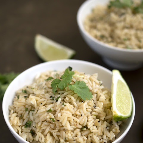 Healthy Cilantro & Lime Brown Rice