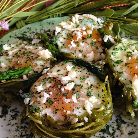 Spinach Pasta Nests