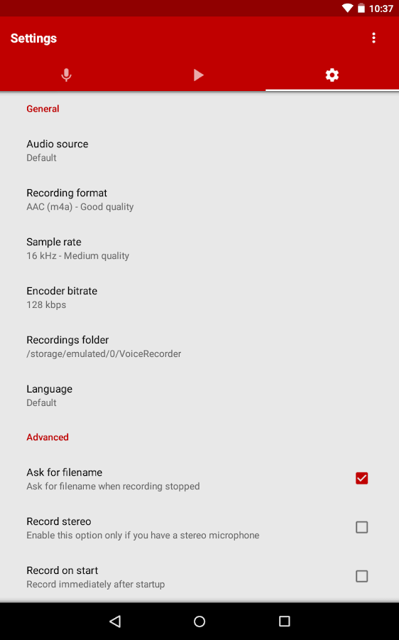 Voice Recorder Screenshot 18