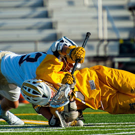 Layin' out by Kevin Mummau - Sports & Fitness Lacrosse ( skill, pull, leverage, faceoff, push, lacrosse )