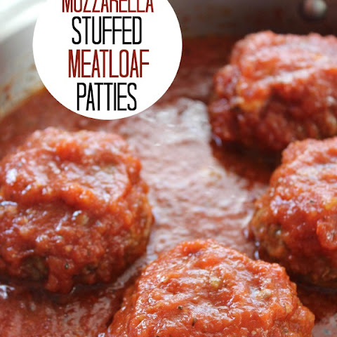 Mozzarella Stuffed Meatloaf Patties
