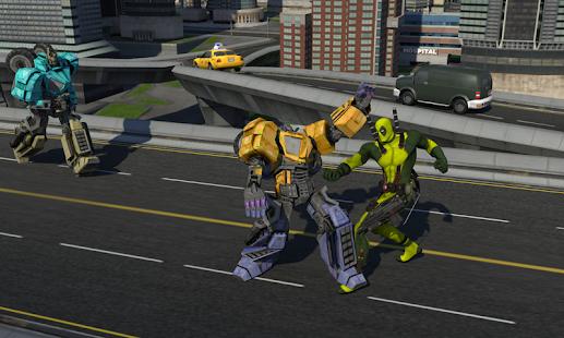 Rope Man VS Superhero Robot