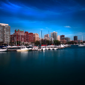 Chicago by Cristobal Garciaferro Rubio - City,  Street & Park  Neighborhoods ( water, illinois, boats, buildings, chicago, marina, usa )