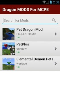 Dragon MODS For MCPE - screenshot