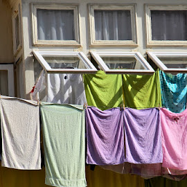 Pastel Laundry by Francis Xavier Camilleri - Artistic Objects Other Objects