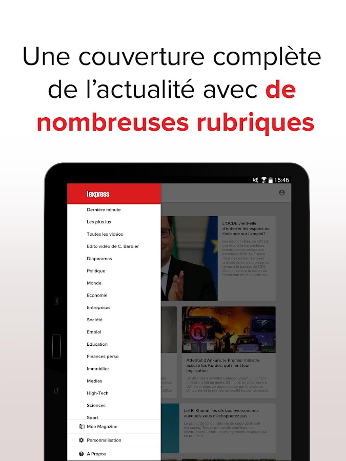 L'Express : l'actu en continu Screenshot 14