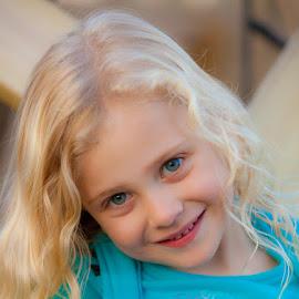 Bree by Eugene Linzy - Babies & Children Child Portraits ( child, blonde, girl, female, portrait )