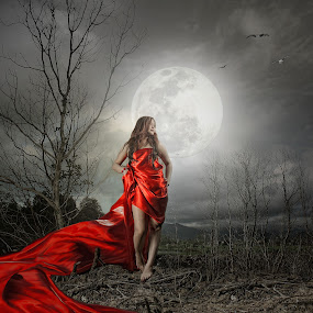 Red Hot Moon by Vantodes . - Digital Art Things