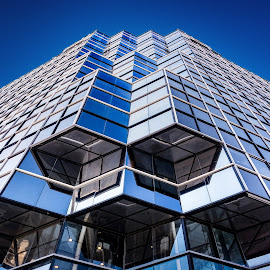 Blue Building by Anatoli Mikitanski - Buildings & Architecture Other Exteriors ( building, sky, new york, cityscape )