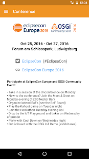 EclipseCon Europe- screenshot