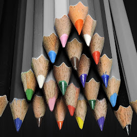 PENCILS POINTING by Kambala Rajesh - Artistic Objects Education Objects