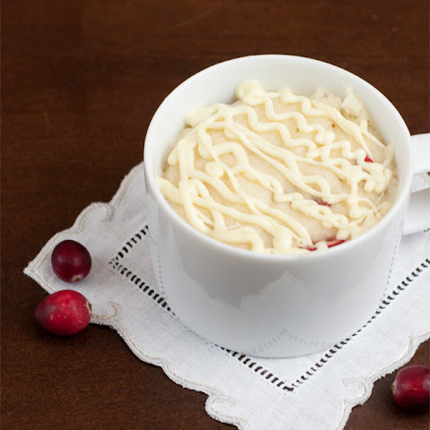 White Chocolate & Cranberry Mug Cake