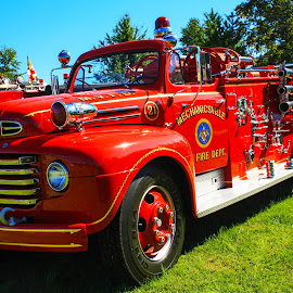 Ford Firetruck by Debra Branigan - Transportation Automobiles ( automobiles, firetruck, transportation, ford, photography )