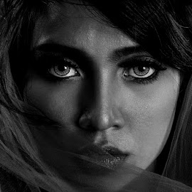Under Shades by Dhemmy Zeirifandi - Black & White Portraits & People