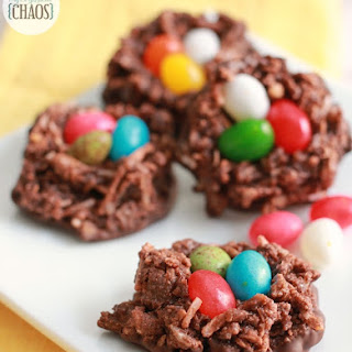 Chocolate Macaroon Nests