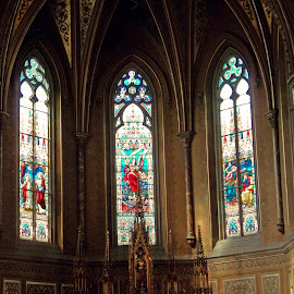 Imported Stained Glass by Carol Boshears - Buildings & Architecture Places of Worship