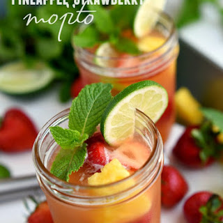 Pineapple Strawberry Mojito