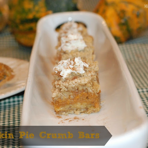 Pumpkin Pie Crumb Bars