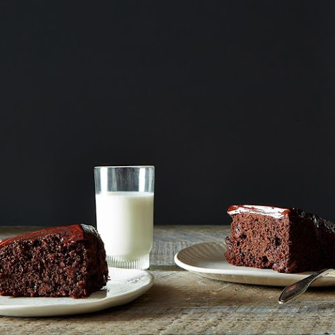 Chocolate Chocolate Chip Cake with Chocolate Sour Cream Frosting